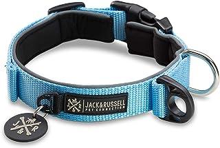 Jack & Russell premium hundhalsband Luna reflekterande och neopren vadderad hundhalsband div. Storlekar och färger (halsom...