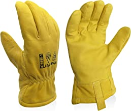 Intra-FIT Professional Arc Flash Gloves Safety Work Gloves Cut& Puncture Resistance Idea for Cut-Resistance Work Gloves, G...