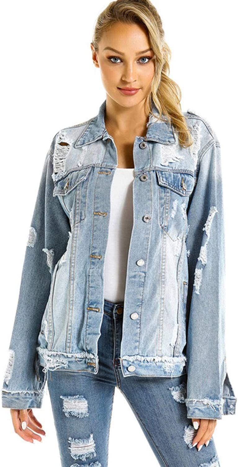 NC Women's Denim Jackets Spring and Autumn Long-Sleeved Tops