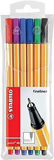 STABILO Fineliner Stabilo Point 88 Assorted 88/6 Fineliner Wallet, Multicoloured, 6 (0213530)