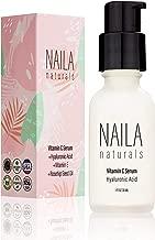 Naila Naturals Vitamin C Serum - Anti Aging Serum For Women - Vitamin C Skin Serum With Hyaluronic Acid And Vitamin E - 87% ORGANIC ingredients - Made in USA