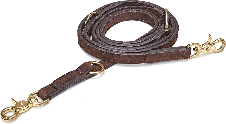 Cloud7 Leather Dog Leash Mocca  200cm
