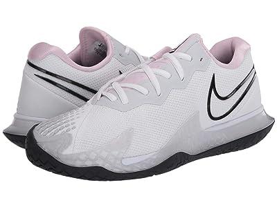 Nike NikeCourt Air Zoom Vapor Cage 4 (White/Black/Pink Foam/Pure Platinum) Women
