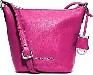 MICHAEL MICHAEL KORS Bedford Leather Small Messenger Bag, Raspberry