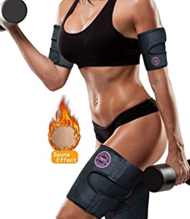 TNT Pro Series Arm Trimmers & Thigh Trimmers (4 Pack Set) - Sweat Bands for Women & Men - Slimmer Body Wraps for Flabby Arms Trimmer Biceps & Slim Legs