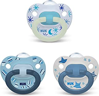 NUK Orthodontic Pacifier Value Pack, Boy, 6-18 Months, 3-Pack