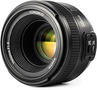 Yongnuo YN 50MM F1.8 Lente Objetivo (Apertura F/1.8) para Nikon DSLR Cámara Fotografía Enfoque Automático de Gran Apertura + WINGONEER difusión