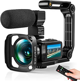 Video Camera Ultra 2.7K Camcorder HD 36MP Digital Vlogging Recorder with IR Night Vision and 16X Digital Zoom Equipped wit...