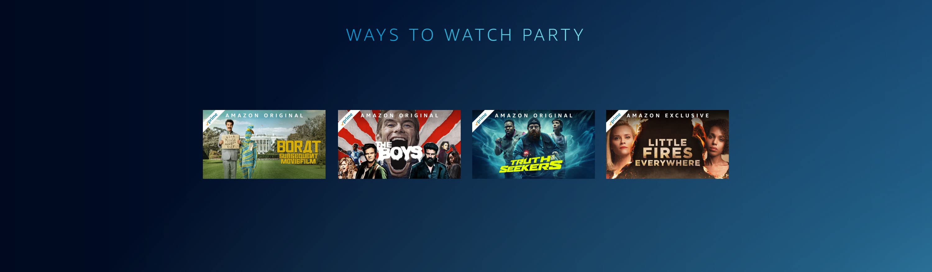 Start a Watch Party with anything included with Prime