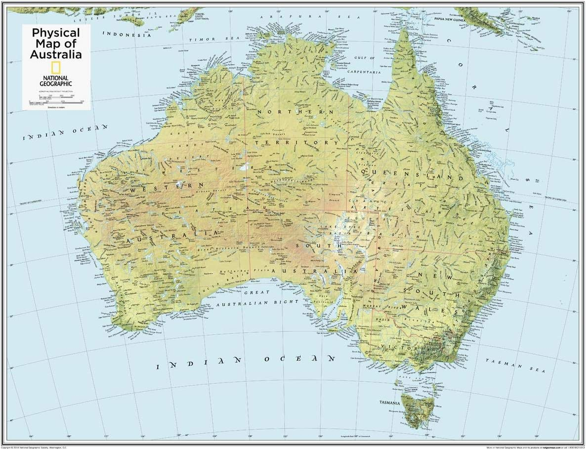 National Geographic: Australia Physical Wall Map 28 Max 40% Sale OFF - x inche 22