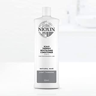 Nioxin System 1 Scalp Therapy Revitalising Conditioner for Natural Hair with Light Thinning, 1L
