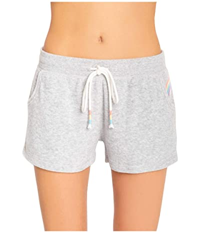 P.J. Salvage Rainbow Lounge Shorts (Heather Grey) Women