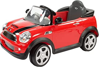 Rollplay W446AC-R 6V Mini Cooper Ride On Toy, Battery-Powered Kid's Ride On Car, Red