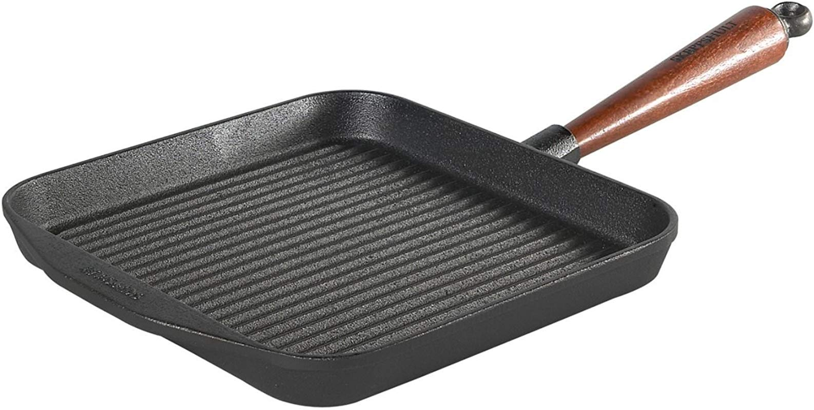 Skeppshult Square Grill Pan With Wood Handle 25 Cm By Skeppshult