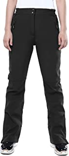 33000ft Women's Outdoor Fleece Lined Snow Pants Softshell Warm Waterproof Ski Insulated Trousers with Boot Gaiters