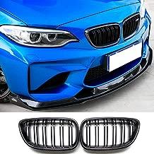 Carbon Fiber Front Kidney Grill for BMW 2 Series F22 F23 M2 F87 2 door 2014-2018 Gloss Black