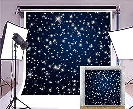 Laeacco Starry Night Sky 8x8ft Photography Background Stars Abstract Backdrop Night Sky Stars Starry Shiny Twinkles Dark Blue Background Children Baby Kids Girls Photos