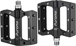 Puroma Mountain Bike Pedal Nylon Fiber Non-Slip 9/16 Inch Bicycle Platform Flat Pedals for Road Mountain BMX MTB Bike