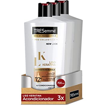 TRESemmé Acondicionador Liso Keratina - Paquete de 3 x 700 ml ...