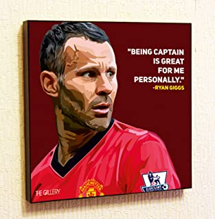 Ryan Giggs Manchester United MU Decor Motivational Quotes Wall Decals Pop Art Gifts Portrait Framed Famous Paintings on Acrylic Canvas Poster Prints Artwork Geek (10x10