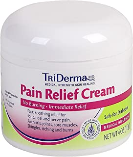 TriDerma MD Topical Pain Relief, Lidocaine/Menthol Cream 4 oz, 73041 - Sold by: Pack of One