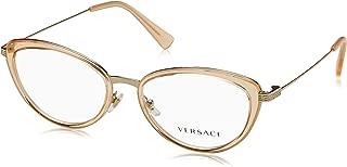 Eyeglasses Versace VE 1244 1406 PALE GOLD/ORANGE TRANSP