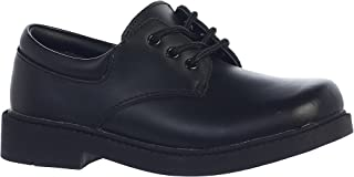 Boy's Matte Leather Dress or Casual Shoes Black or White - Toddler to Youth