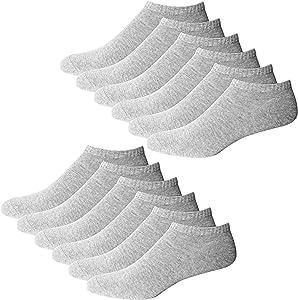 YouShow10 pares calcetines hombres mujeres zapatillas cortos medio calcetines patucos algodón unisex Oeko-Tex 100