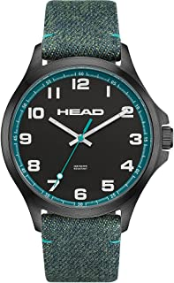 HEAD Unisex-Adult Quartz Watch, Analog Display and Textile Strap HE-008-02