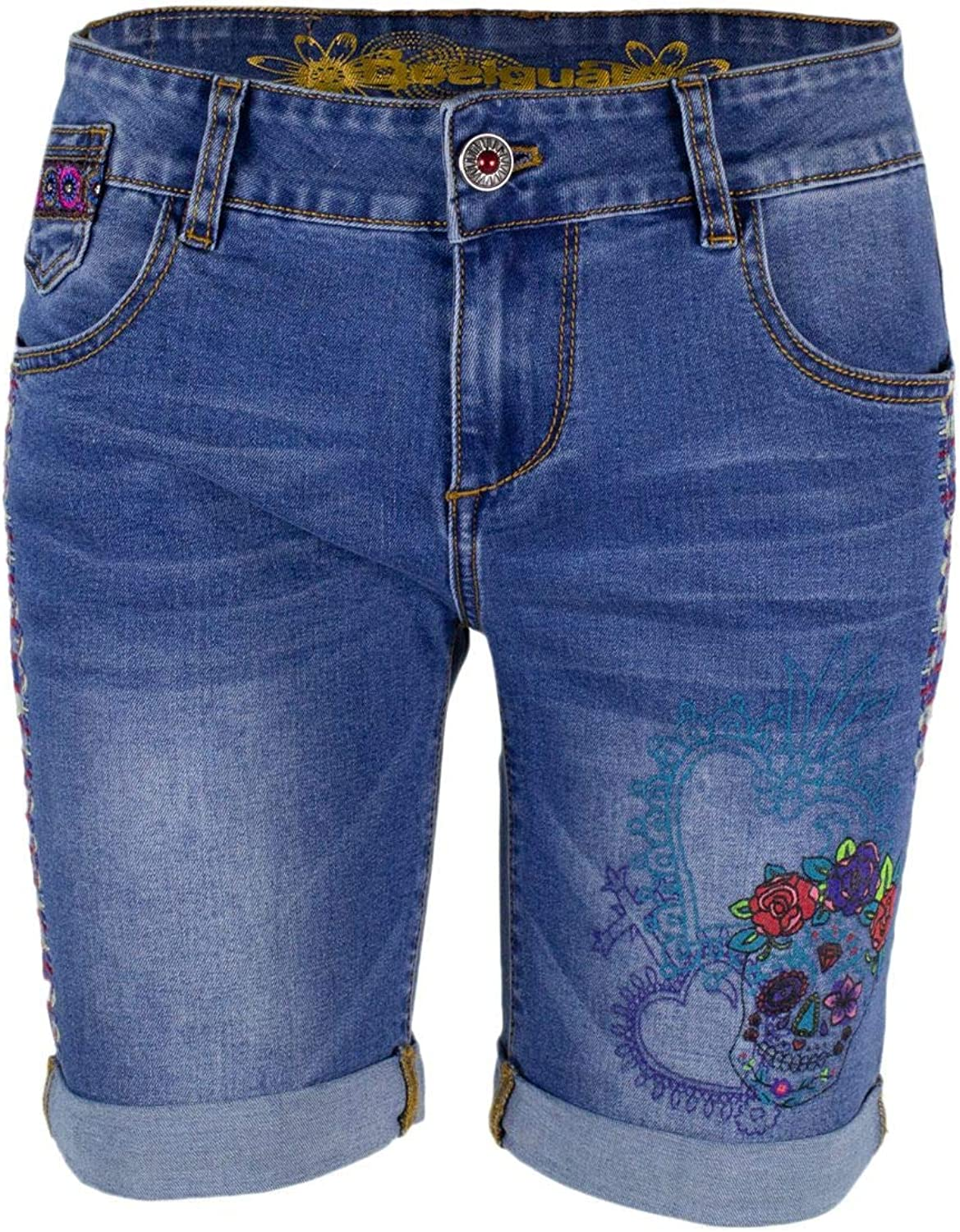 Desigual Women's 19SWDD12blueE bluee Cotton Shorts