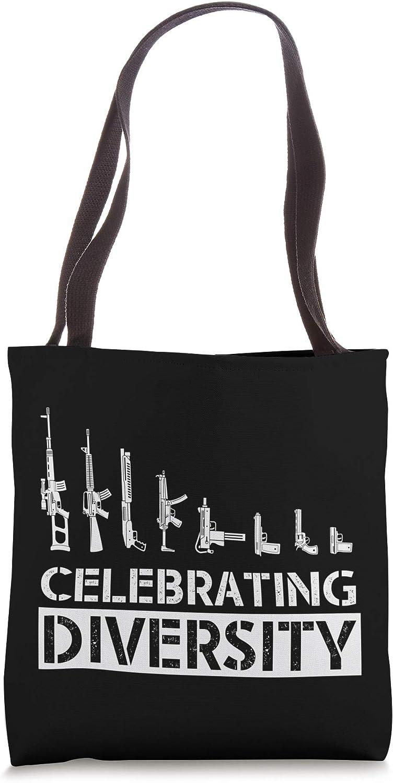 Celebrate Diversity Funny Gun Shirts For Men Funny Gun Gifts Tote Bag