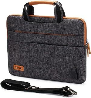 DOMISO 15-15,6 Pouces Imperméable Housse de Protection Ordinateur Portable avec Port de Chargeur USB Externe Sacoche Bando...