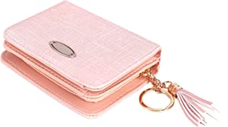 Womens Bifold Long Short Wallets Snap Elegant Wallet Card Holder with Snap Fastener and ID Window for Ladies and Girls