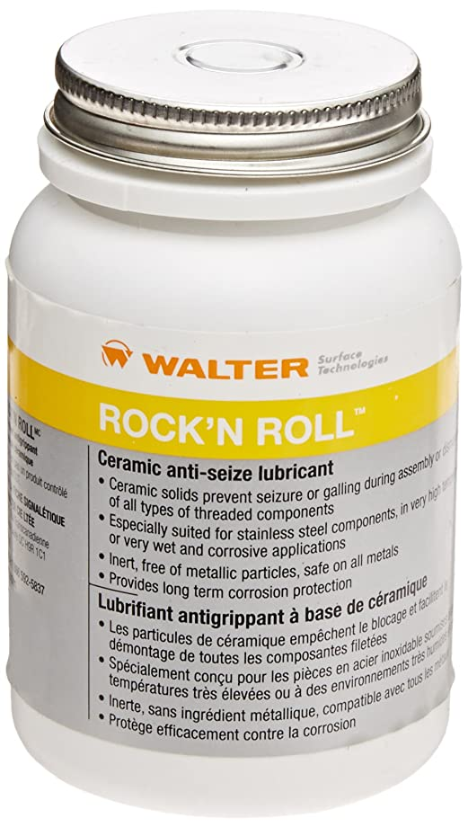 Walter Surface Technologies 53D854 Rock'n Roll Ceramic Anti-Seize Lubricant, 300 gram Paste/Brush