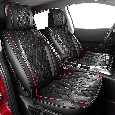 Muchkey Housse de Si/èges 5 Places Auto pour Nissan Livia Tiida Sylphy avec Coussin Appui-t/ête /& Oreillers Lombaire Style B Noir Blanc