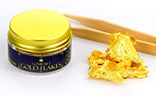 Edible Genuine Gold Leaf Flakes - by Barnabas Blattgold - 30mg Jar