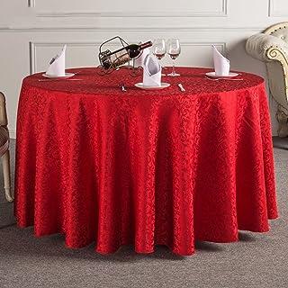 BUYI President mantel de tela de tela de estilo europeo mesa de centro de café mesa de comedor comedor redondo grande mesa redonda de mantel de tela rojo rojo local dorado, beige blanco marrón claro 1
