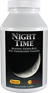 Sponsored Ad - Andrew Lessman Night Time 180 Capsules - 1.5mg Melatonin, Valerian, Passionflower, Hops, Chamomile with No ...