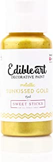 Sweet Sticks Edible Art Decorative Cake Paint 0.5 Ounce (15 Milliliters), Metallic Sunkissed Gold