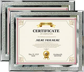 Artsay 8.5x11 Certificate Document Picture Frames 8.5 x 11 Glass Photo Frame for Tabletop, 2 Pack