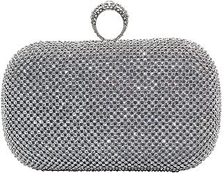 Wiwsi Luxury Women Evening Bridal Handbag Clutches Ring Rhinestone Design Purse