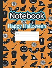 Composition Notebook: Happy Halloween symbols: Composition Notebook: Primary composition notebook grades k-2, Wide Ruled N...