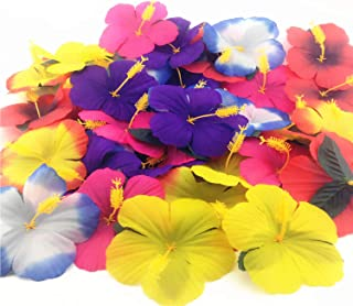 72 Pack Sc0nni Hibiscus Flowers for Tabletop Decoration Party Favor Party Decoration Confetti Party Favors