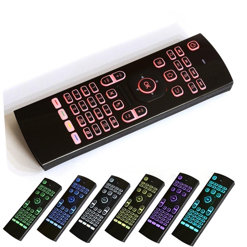 2.4 GHz ratón de Control Remoto 7 Colores retroiluminación Teclado para PC Samsung Smart TV: Amazon.es: Electrónica