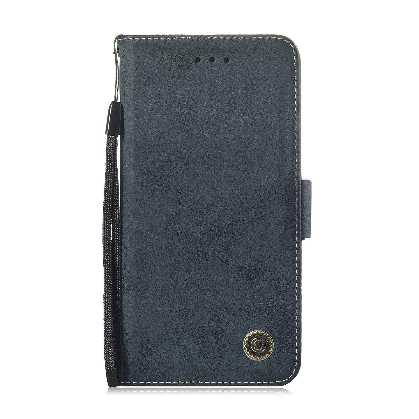 加入順番タワーZeebox? iPhone XS Max 手帳型ケース iPhone XS Max 手帳型カバー 財布型 合皮PUレザー マグネット式 保護ケース カード収納 スタンド 機能 (ネイビーブルー #1)
