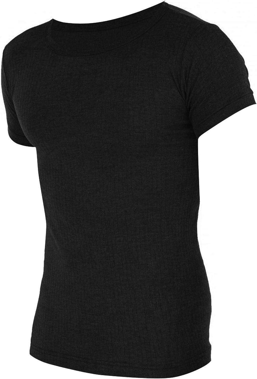 Floso Mens Thermal Underwear Short Sleeve Vest Top (Viscose Premium Range)