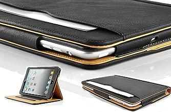 New S-Tech Apple iPad Air 1st Generation (2014 Model) Smart Cover Black Soft Leather Wallet Sleep/Wake Flip Folio Case iPad Air Models A1474 / A1474