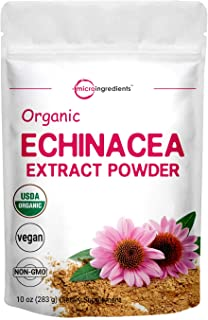 Micro Ingredients Organic Echinacea Extract Powder, 10 Ounce, Pure Echinacea Supplement, Strongly Support Immune System an...