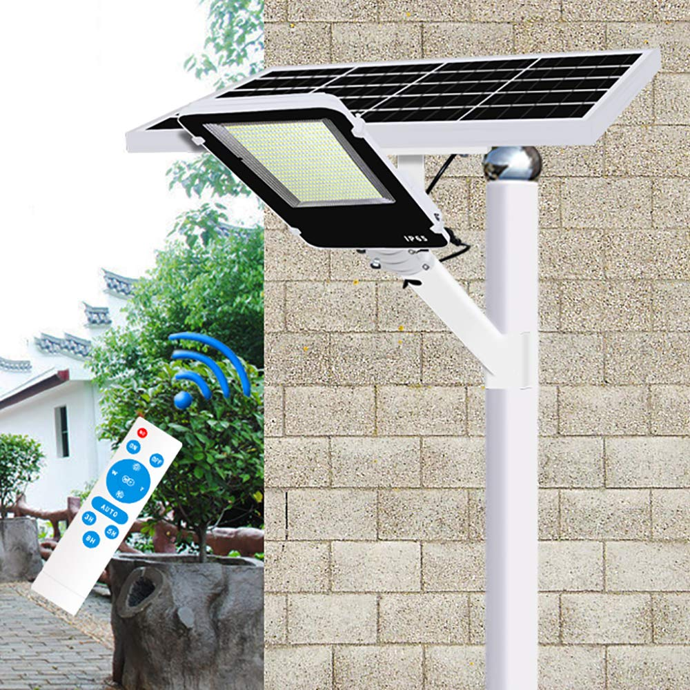 SOLIGHTS Farola Solar LED para Exteriores, 60W~600W Lámparas Solares Farola Jardín IP65 Impermeable con Soporte Ajustable y Control Remoto Adecuado para Patio, Iluminación Solar Vial: Amazon.es: Hogar