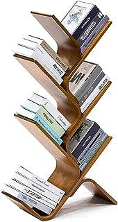 JKGHK Estantería de Madera de bambú Librerías estantería de árbol organizadores de Almacenamiento de LibrosCDálbumesA...